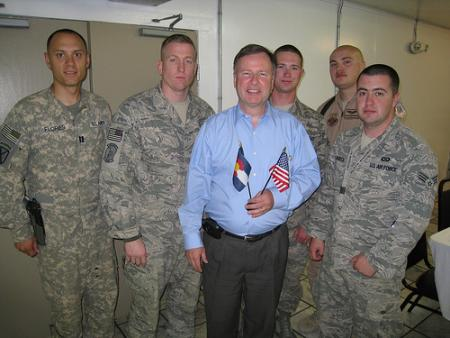 Congressman Lamborn meets with Colorado soldiers serving in Afghanistan on a congressional trip to study security issues.